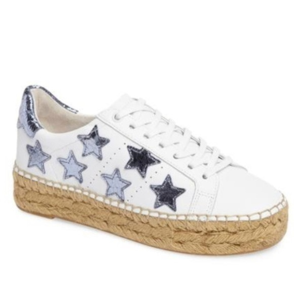 Blue White Star Espadrille Sneakers